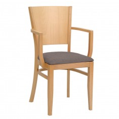 Cafestuhl Agis mit Armlehnen und Sitzpolster