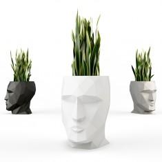 ADAN Pflanzengefäß, hochglanz Weiß