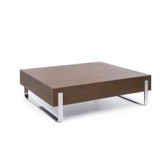 Design Tisch myTurn S2V, 850 x 850, Kufengestell