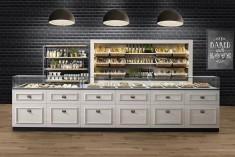 Einrichtung für Bäckerei im Landhausstil