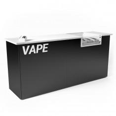 E-Zigaretten Theke mit Glasvitrine 2140mm