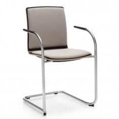 Freischwinger-Stuhl Com K32V1, Sitz und Rücken gepolstert
