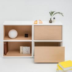 hochwertiges Design Sideboard 2OH Gravity mit Schubladen