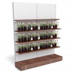 Getränkeregal mit Holzfachböden B 2000mm