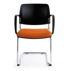 Konferenzstuhl Bit 560V Freischwinger, Sitz gepolstert, Rücken aus Kunststoff, stapelbar