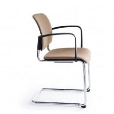 Konferenzstuhl Bit 570V Freischwinger, Sitz und Rückenlehne gepolstert, stapelbar