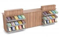 Lottotheke für Kiosk and Tankstelle mit Süßwarenvorbau und Sichtschutz 3390mm