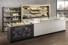 moderne Bäckerei Einrichtung