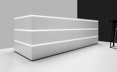 moderne Empfangstheke Tresta optional mit LED-Beleuchtung