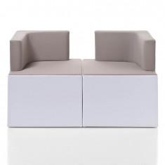 moderner Sitzwürfel mit Rückenlehne KENION