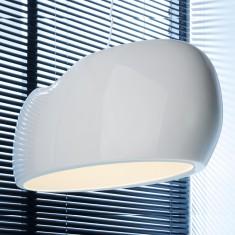 Designlampe Canon, Weiß hochglanz