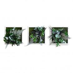 Pflanzenbild im Dschungeldesign 3er Set styleGreen