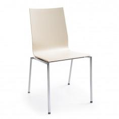 Besucherstuhl Sensi K1H 4-Fuß, Rücken und Sitz aus Schichtholz, stapelbar
