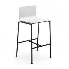 Hocker Sensi K1CH 4-Fuß, Rücken und Sitz aus Schichtholz