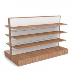 Gondel mit Holzverkleidung und Holzfachböden B 2000mm