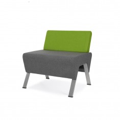Design 1-er Sitzbank UpDown, mit Rückenlehne niedrig