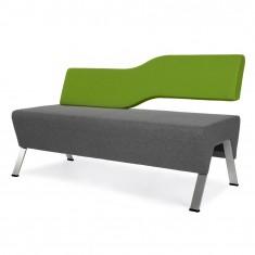 Design 2-er Sitzbank UpDown, mit Rückenlehne