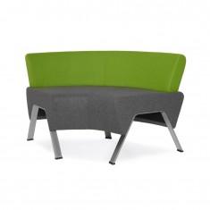 Design Sitzbank UpDown, im Bogen mit Rückenlehne