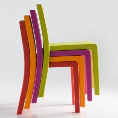 stapelbarer Terrassenstuhl aus Kunststoff JUT Vondom