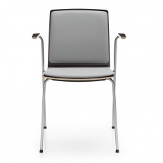 Stapelstuhl Com K32H 4-Fuß, Sitz und Rücken gepolstert