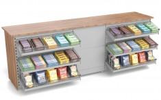 Verkaufstheke für Kiosk and Tankstelle mit Süßwarenvorbau 2805mm