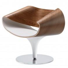 Züco Perillo Premium Loungesessel, Holzschale in Nussbaum natur