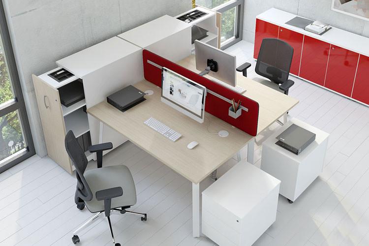 Arbeitsplatz Büroeinrichtung 2-Personen