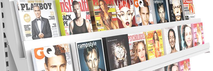 Zeitschriftenregale Metall und Holz