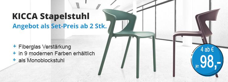 Buero stapelbare Stühle