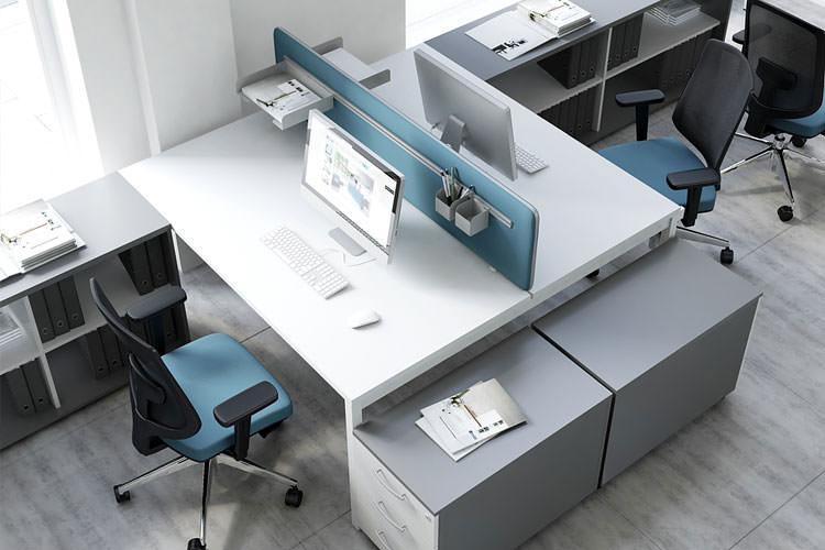 Büroarbeitsplatz Doppelschreibtisch Ogy