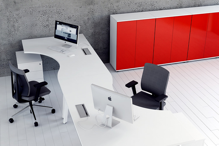 Formschreibtisch Büroausstattung