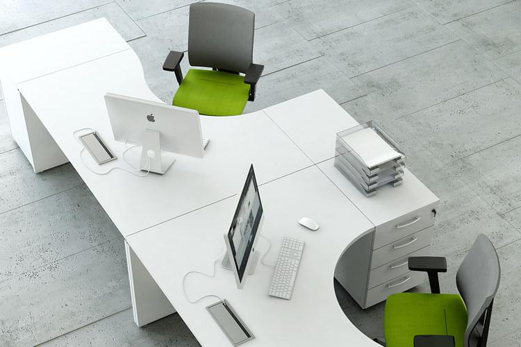 Formschreibtisch Doppelschreibtisch Büro