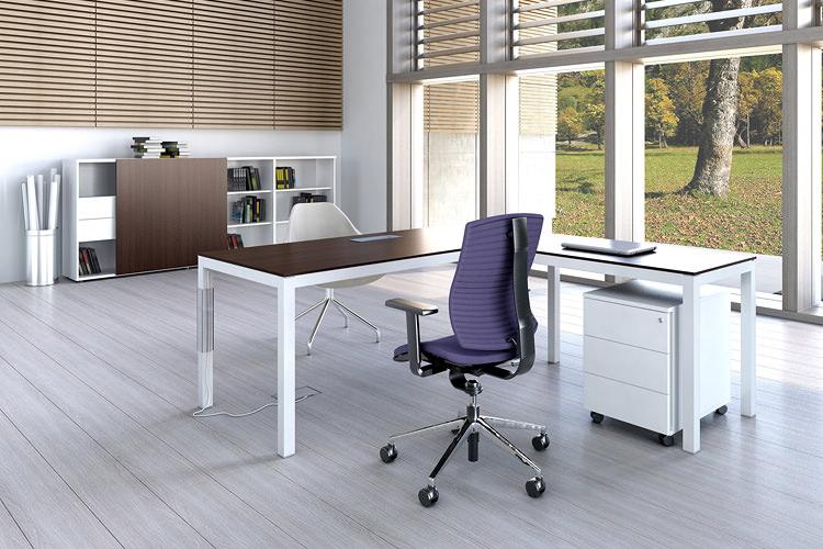 Büroeinrichtung Schreibtisch und Sideboard