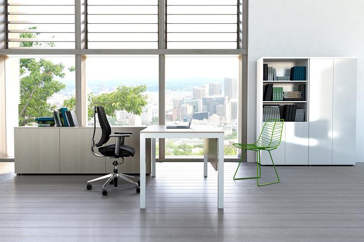 Design Büroeinrichtung Schreibtisch mit Lowboard