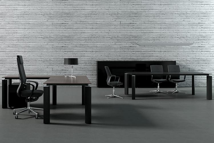 Büromöbel Büroeinrichtung hochwertig schwarz