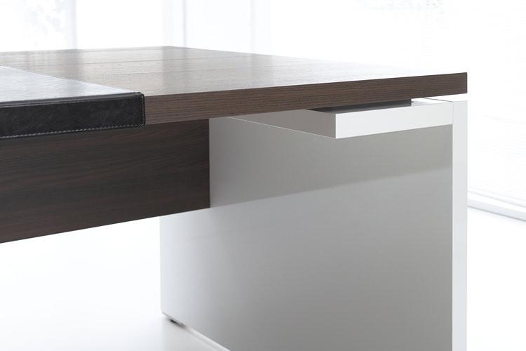 Büro Schreibtisch hochglanz weiß