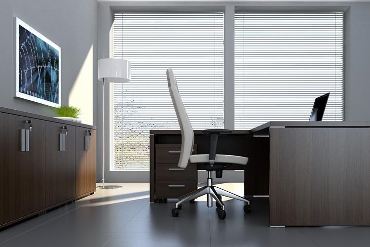 Schreibtisch mit Sideboards Büromöbel Serie Quando