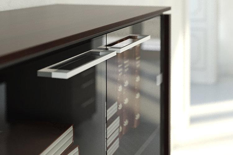 Büro Sideboard mit Glastüren