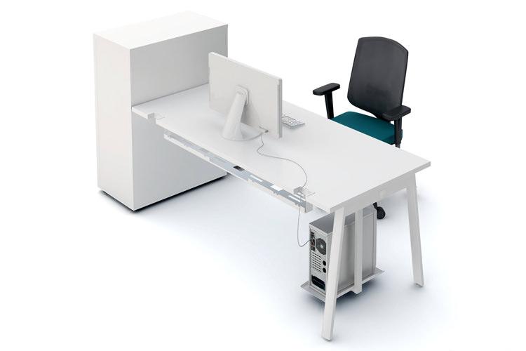Schreibtisch mit Schrank Büromöbel
