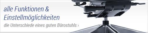 Bürostuhl - alle Funktionen und Einstellmöglichkeiten
